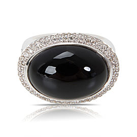 David Yurman Signature Black Onyx & Diamond Ring in Sterling Silver
