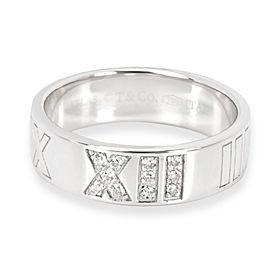Tiffany & Co. Diamond Atlas Ring in 18K White Gold (0.05 CTW)
