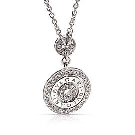 Bvlgari Diamond Circle Necklace in 18KT White Gold 1.10 ctw