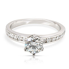 Tiffany & Co. Diamond Diamond Engagement Ring in Platinum GIA E VVS2 0.8 CTW