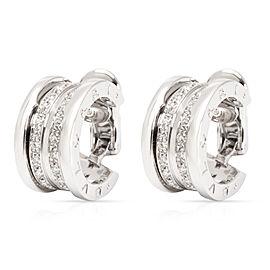 Bulgari B.zero1 Diamond Hoop Earring in 18K White Gold (1.08 CTW)