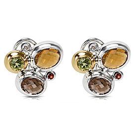 David Yurman Multistone Mosaic Earrings in Sterling SIlver