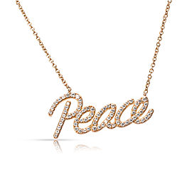 Tiffany & Co. Paloma Picasso Graffiti Peace Pendant in 18K Rose Gold 0.21 ctw