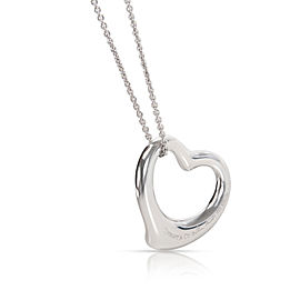 Tiffany & Co. Elsa Peretti Medium Open Heart Pendant in Sterling Silver