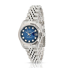 Rolex Datejust 69174 Women's Watch in 18kt White Gold/Steel