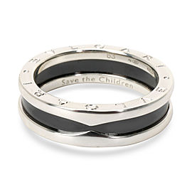 Bulgari Save the Children Ceramic Band in Sterling Silver
