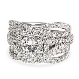Vera Wang Love Collection Diamond Wedding Set in 14K White Gold 2.00 CTW
