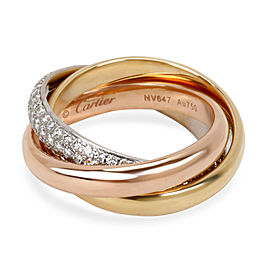 Cartier Trinity One Diamond Ring in 18K Rose, White & Yellow Gold 0.99 CTW