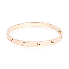 Cartier Love Bracelet in 18K Rose Gold (Size 19)