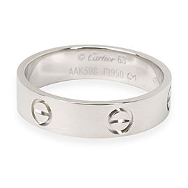 Cartier LOVE Ring in Platinum