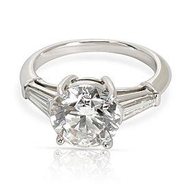 Tiffany & Co. Diamond Engagement Ring in Platinum H VS1 3.16 CTW