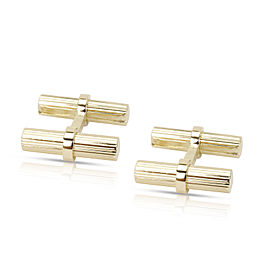 Van Cleef & Arpels Groved Baton Cufflinks in 14K Yellow Gold