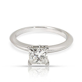 Tiffany & Co. Solitaire Diamond Engagement Ring in Platinum G VS2 0.92 CTW