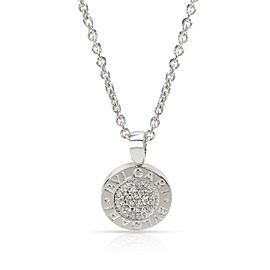 Bvlgari Bvlgari Diamond Pendant in 18K White Gold (0.19 CTW)
