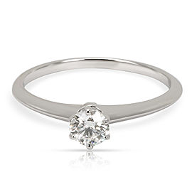 Tiffany & Co. Solitaire Diamond Engagement Ring in Platinum I VS1 0.35 CTW