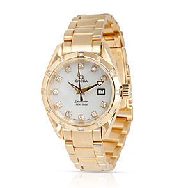 Omega Aqua Terra 1275.75.00 Women's Watch in 18kt Yellow Gold