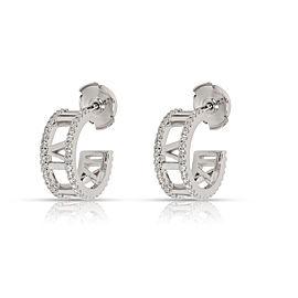 Tiffany & Co. Atlas Diamond Hoop Earring in 18K White Gold 0.3 CTW