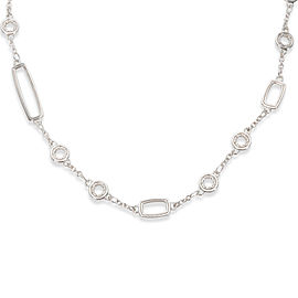 "John Hardy Bamboo Round & Rectangle Link Necklace in Sterling Silver (24"")"