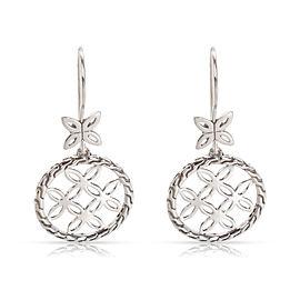 John Hardy Kawung Circle Drop Earrings in Sterling Silver