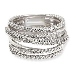 David Yurman Crossover Diamond Ring in Sterling Silver 0.18 CTW