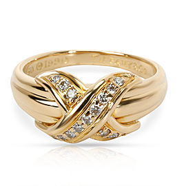 Tiffany & Co. Vintage X Diamond Ring in 18K Yellow Gold 0.13 CTW