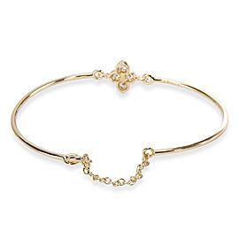 Cartier Hindu Floral Diamond Wire Bracelet in 18KT Yellow Gold 0.24 ctw