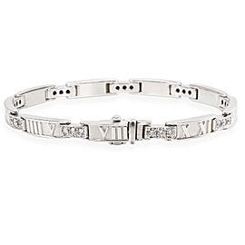 Tiffany & Co. Atlas Bracelet in 18KT White Gold 1.48 ctw