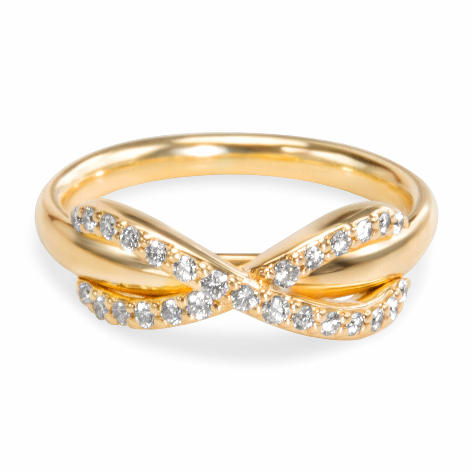 0915281c3 Infinity Diamond Pinky Ring In 18K Yellow Gold (0.13 CTW) | Tiffany & Co. |  Buy at TrueFacet