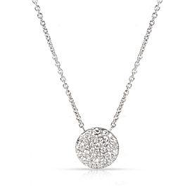 Tiffany & Co. Round Diamond Pendant in 18K White Gold (0.29 CTW)