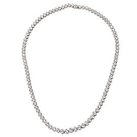 Fred Diamond Tennis Necklace in 18KT White Gold IGL Certified G-H VS1(8.55 CTW)
