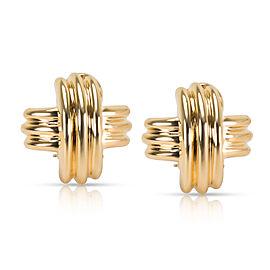 Tiffany & Co. X Earrings in 18K Yellow Gold