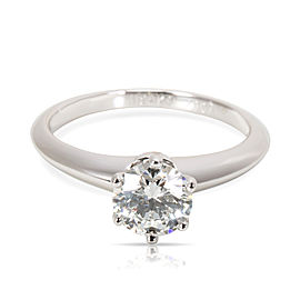 Tiffany & Co. Diamond Engagement Ring in Platinum E VVS1 0.78 CTW