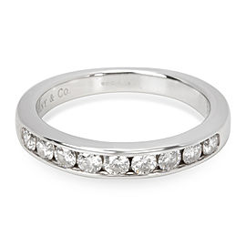Tiffany & Co. 9 Stone Diamond Wedding Band in Platinum 0.45 CTW