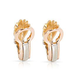 Carrera y Carrera Textured Hand Diamond Earrings in 18K Yellow Gold 0.1 CTW