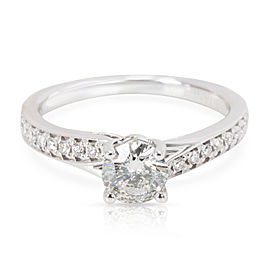 Ritani Diamond Engagement Ring in 18K White Gold 0.75 CTW (0.50ct G/H I1 center)