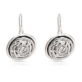 David Yurman Labyrinth Diamond Disc Earrings in 0.34 CTW