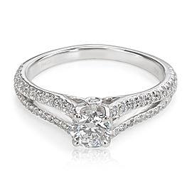 GIA 0.41ct I VS1 Ritani Diamond Engagement Ring 18K White Gold (0.65CTW)
