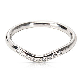 Tiffany & Co. Elsa Peretti Wedding Band in Platinum 0.06 ctw