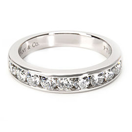 Tiffany & Co. Channel Diamond Wedding Band in Platinum 0.81 ctw