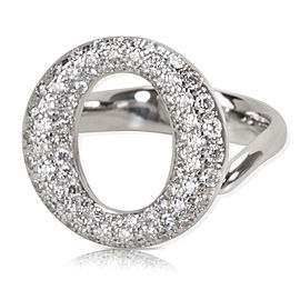 Tiffany & Co. Elsa Peretti Sevillana Diamond Ring in Platinum (0.80 CTW)