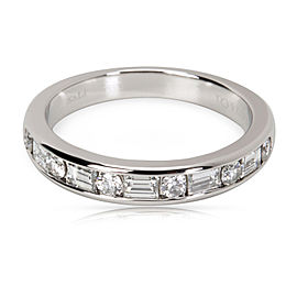 Tiffany & Co. Round & Baguette Diamond Band in Platinum 0.66 CTW