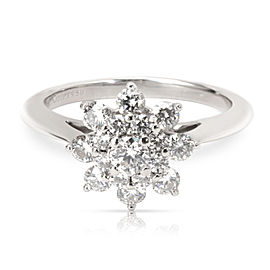 Tiffany & Co. Diamond Flower Ring in Platinum (0.60 CTW)