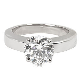 Cartier GIA D VVS1 Ex Cut Diamond Engagement Ring in Platinum (1.80 CTW)