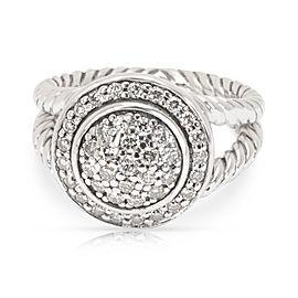 David Yurman Diamond Petite Cerise Ring in Sterling Silver