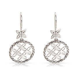 John Hardy Kawung Circle Drop Earrings in Sterling Silver