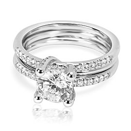 Simon G Diamond Engagement Wedding Set in 18K White Gold 0.25 CTW
