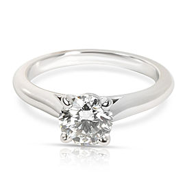 GIA Certified Cartier Diamond Engagement Ring in Platinum H VS1 1.01 CTW