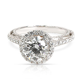 Verragio Halo Diamond Engagement Ring in 18K 2 Tone Gold GIA I SI1 2.1 CTW