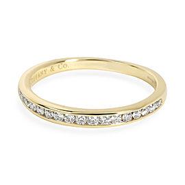 Tiffany & Co. 17 Stone Diamond Wedding Band in 18K Yellow Gold 0.18 CTW