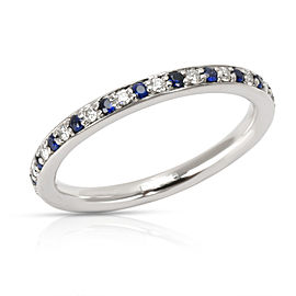 Alternating Diamond & Sapphire Stackable Eternity Band in Platinum 0.22 CTW